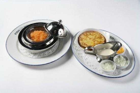 Fish House: Blinis and caviar