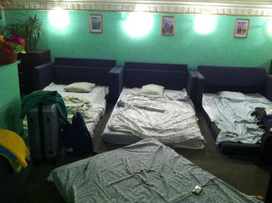 Fredericks: Habitación improvisada