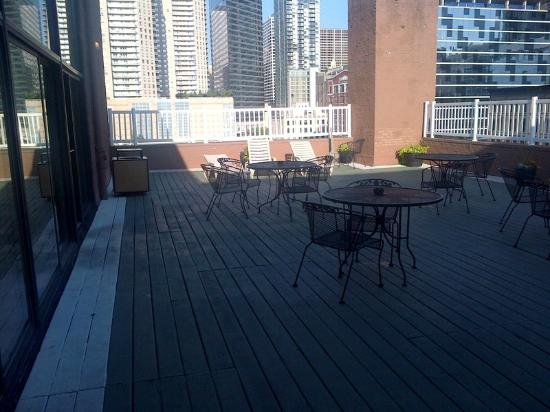 Best Western River North Hotel Rooftop Patio Another Angle