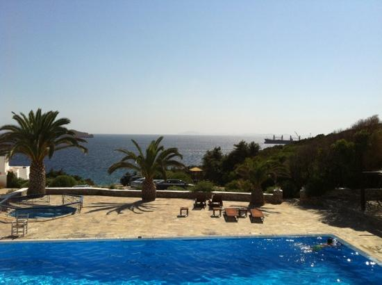 Faros Resort: view from breakfast terrace