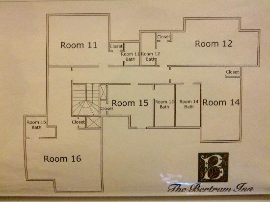The Bertram Inn: Floor plan 3rd floor