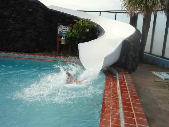 Sun Viking Lodge: Water slide....too fast to actually get their picture!