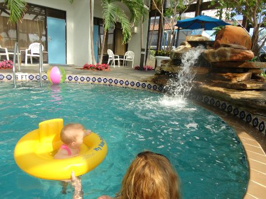 Sun Viking Lodge: Indoor pool...great for my 5 month old granddaughter..limited sun.