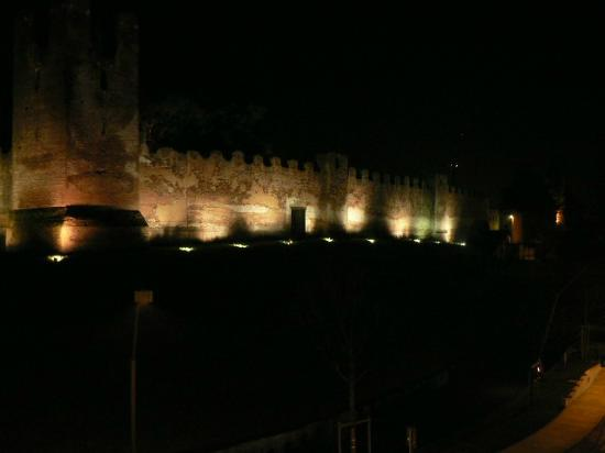Best Western Albergo Roma: the Castel at night from our room