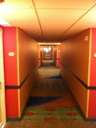 Doubletree by Hilton Hotel Denver Tech: Der Flur setzt farblich ein paar Akzente