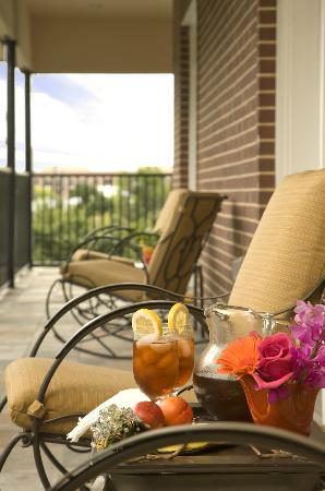 La Maison in Midtown, an urban bed and breakfast: Relax on the veranda