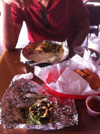 BA Burrito: the nachos won't last long cause they're amazing!