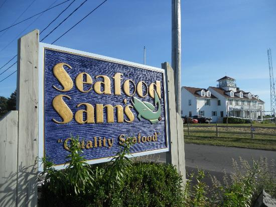 """Seafood Sam's On The Canal: It's located on """"Coast Guard Road"""""""