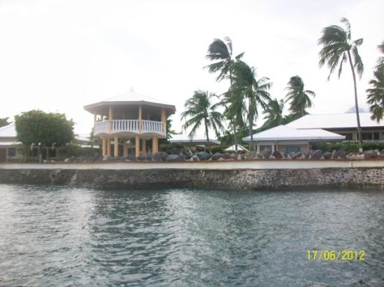 Paras Beach Resort: The resort view from White Island Beach