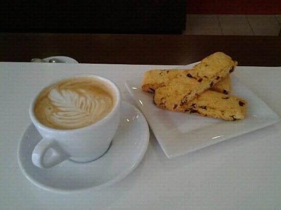 Kahwa Cafe: assortment of locally made gluten free biscotti's.