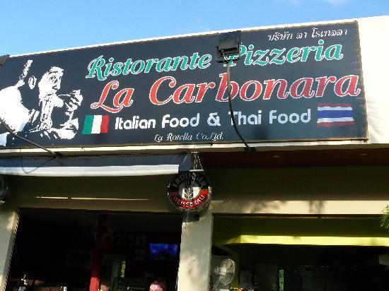 La Carbonara : banner outside