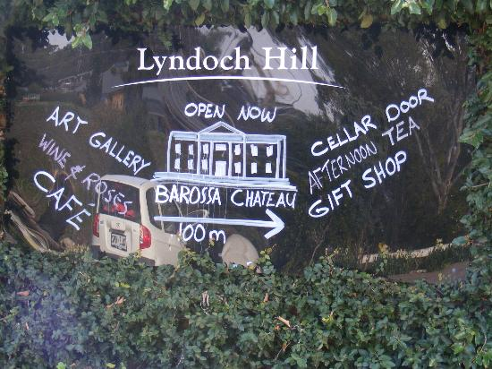 Lyndoch Hill: Directional sign by lobby
