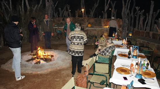 Jamila Game Lodge: Dinner in the Boma