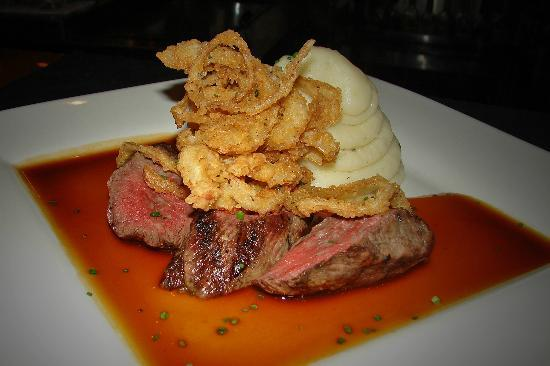 Angus Seafood Meats Spirits: Bistro Tenderloin, with a veal demi glaze.