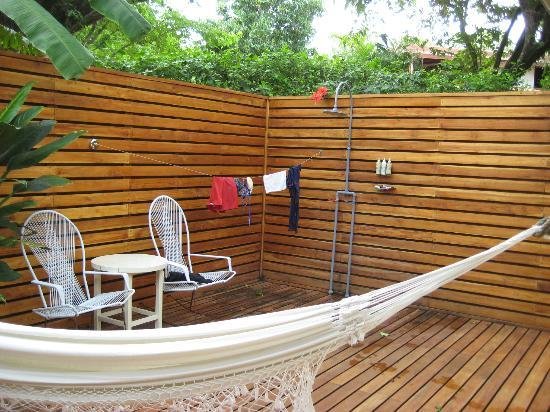 The Harmony Hotel: outdoor shower