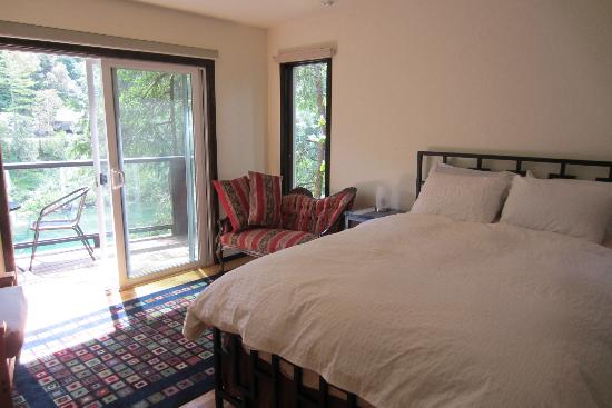 The Larger Upstairs Room Has A Sliding Door That Open Up To The Deck Overlooking The Smith Picture Of Bed And Bread Hiouchi Crescent City Tripadvisor