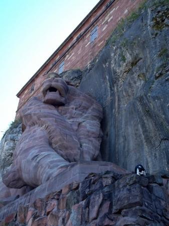 Belfort Citadel & The Lion of Belfort: le lion et le chat