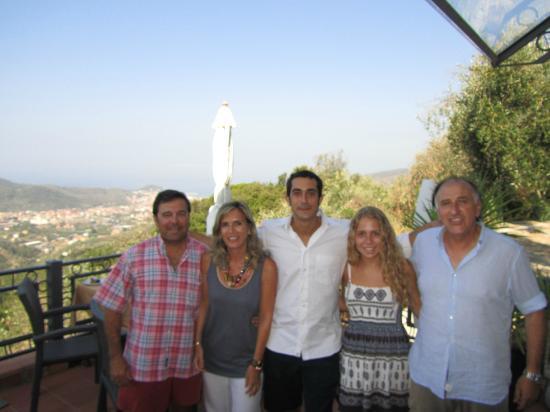 B&B Chincamea: Con Jodi y Mauro en la terraza