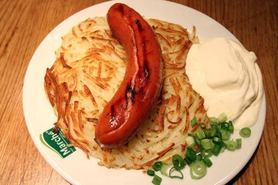 Marche Movenpick VivoCity: Rosti and Sausage