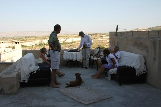 Cappadocia Lodge In Pigeon Valley: Patio and View Toluns Lodge