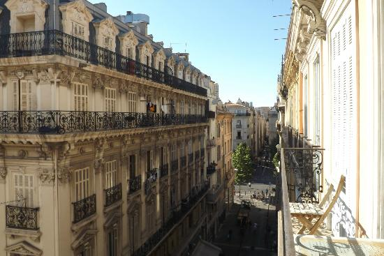 Hotel Saint Louis: view from balcony
