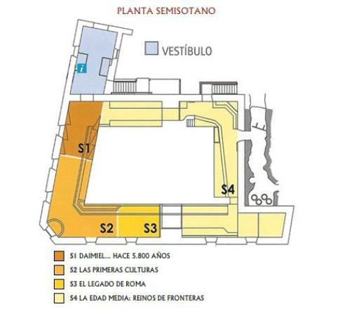 Museo Comarcal de Daimiel: Plano de Planta Semisótano