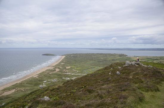 Rhossili Bay: View from top of hills.