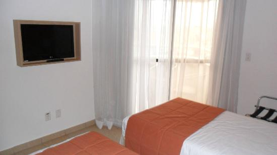 Mercure Santos : Television of the room (there is another in the living area)