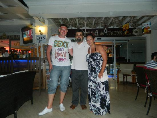 Bread and More: me and wife with the owner soner
