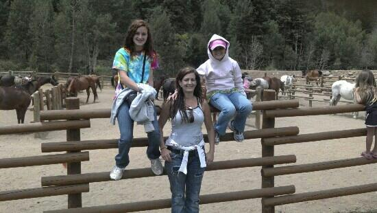 Harmel's Ranch Resort: My girls & I waiting on our rides. Amazing trails, Ranchers were Super! 6.2012