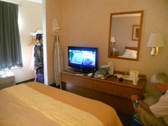 Comfort Inn: TV and Closet area
