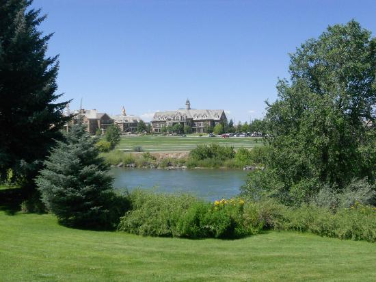 The Art Museum of Eastern Idaho: The Snake River with new office complex in background