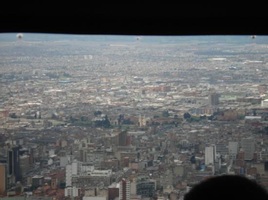"""Cerro de Monserrate: City view from the """"Teleferico"""""""
