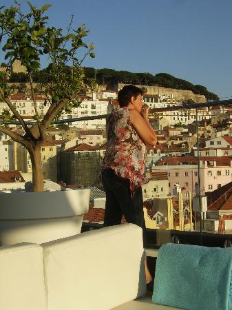 Restaurant Varanda de Lisboa: panorama van het rooftop-bar - Varanda de Lisboa