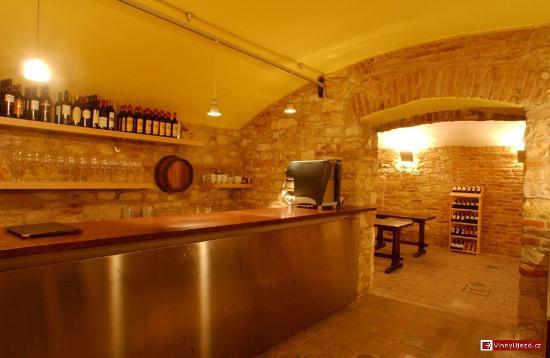 Vinny Sklep Ujezd: Bar area in Vinný sklep Újezd 19