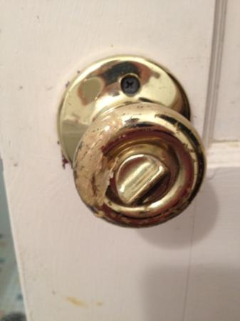 Clearwater Lake Resort: probably 10 year old gum on a door knob