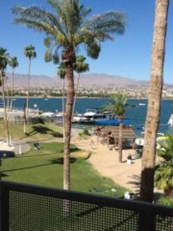 The Nautical Beachfront Resort: view of Lake Havasu from our room