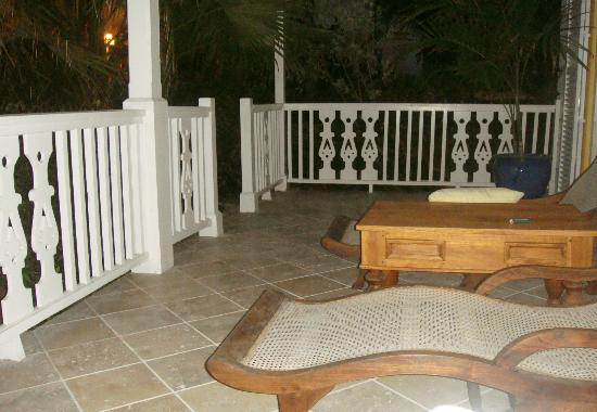 Point Grace: Our patio from our room