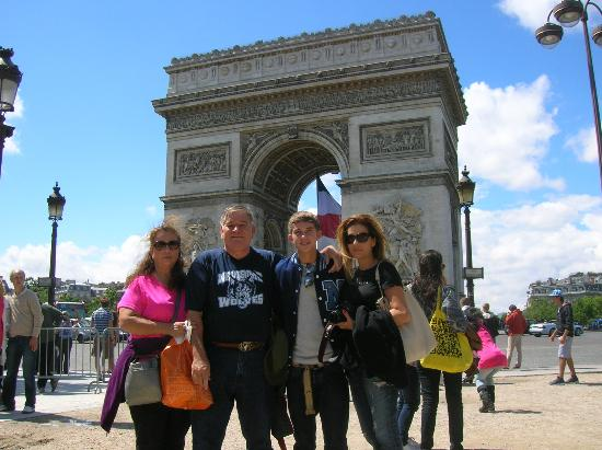Hotel Belloy Saint-Germain by HappyCulture: All of us walked to the Arch along the Seine and were there for Bastille Day