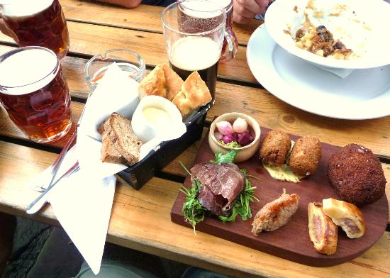 The Colonel Fawcett: The Charcuterie Board including the best scotch egg ever!