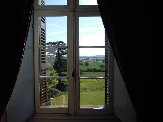 Chateau de Ternay: Aussicht Zimmer Piolan