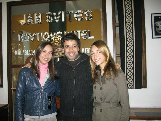 Jam Suites Boutique Hotel: My Daughters with Luis Tedesco, owner