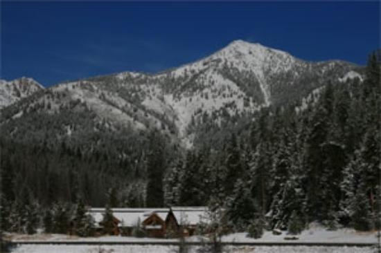 View of Galena Lodge and Galena Peak