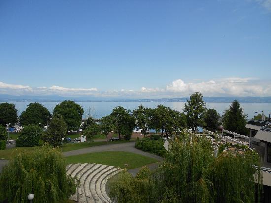Evian-les-Bains, Prancis: vue du balcon