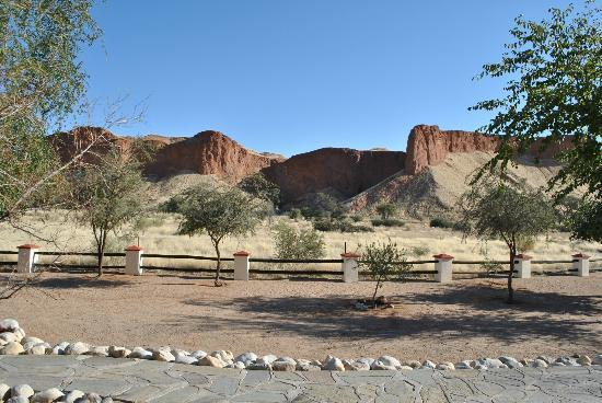 Namib Desert Lodge: Vue depuis les chambres