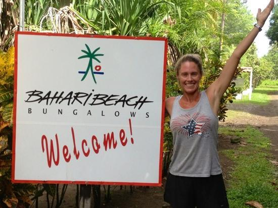 Bahari Beach Bungalows: she will be back