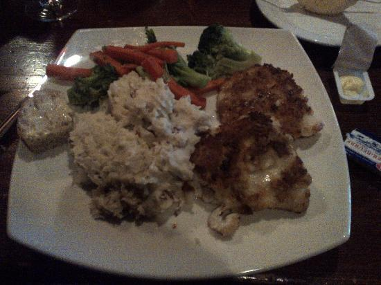 Brothers 2 Restaurant: Cheese & Bacon crusted Haddock with Garlic mashed potatoes