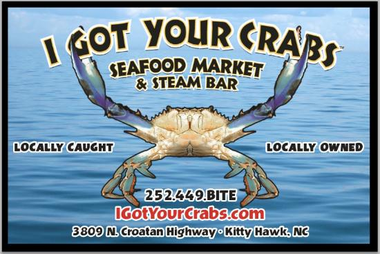 ‪‪Kitty Hawk‬, ‪North Carolina‬: Local seafood. Local service. Free steaming.‬