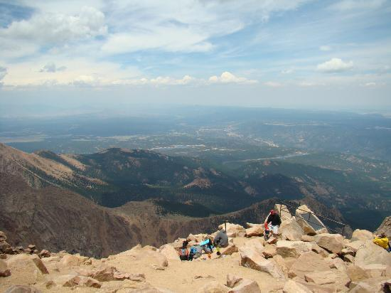 Manitou Springs, CO: A great view from Pike's Peak, looking to the east.