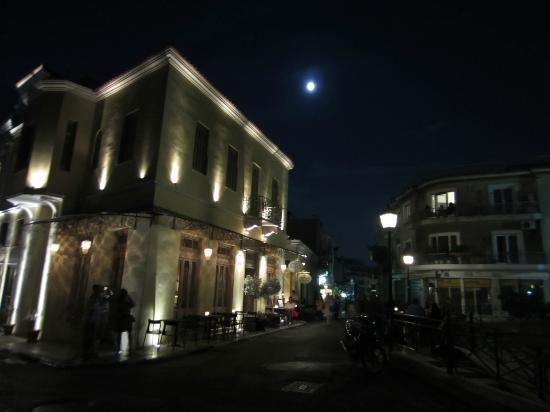 Daphne's: outside the restaurant on a lovely June night
